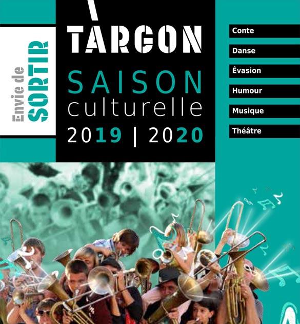Cliquez sur l'image pour accéder au programme de la saison culturelle targonnaise 2019-2020