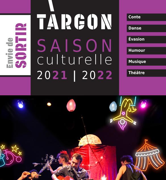 Cliquez sur l'image pour accéder au programme de la saison culturelle targonnaise 2021-2022