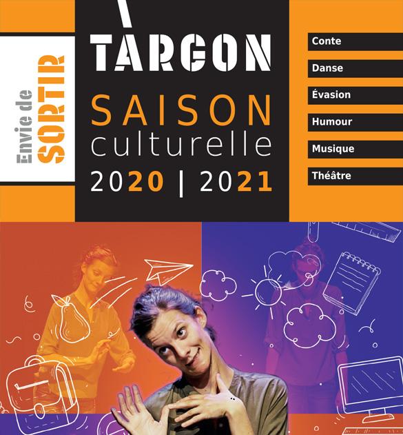 Cliquez sur l'image pour accéder au programme de la saison culturelle targonnaise 2020-2021